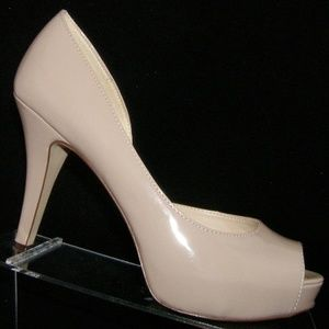 Nine West 'Catelyn' beige tan d'orsay heels 7.5M